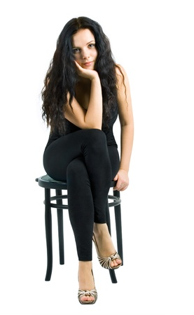 sexy woman on the chair