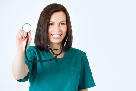 Macro opnamen van medische persoon voor de zorgverzekering