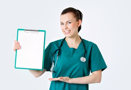 Smiling medical female doctor Stock Photo - 13921254