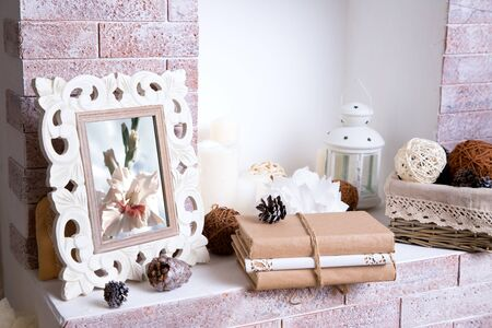 hearthside: Christmas fireplace