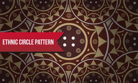tile pattern: Ethnic Circle Carpet Pattern Tile Illustration