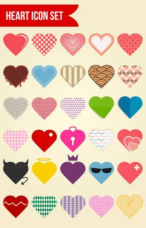 30: 30 Heart Love Icon Set