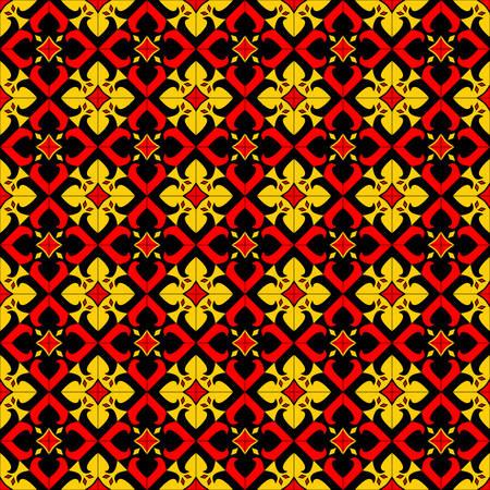 seamless: Ethnic Flower Seamless Pattern