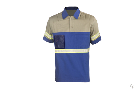 strip shirt: blue and gray, shirt, T-shirt range, Work Shirt, Reflective Strip, Clothes, Work Clothes