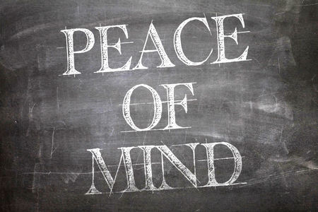 mind: Peace of Mind written on blackboard