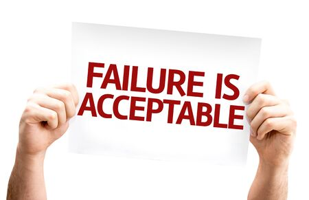 acceptable: Failure is Acceptable card isolated on white background