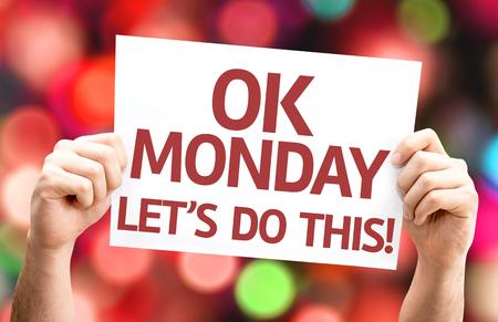 [Ok] 月曜日やろう!多重ライトとカラフルな背景を持つカード