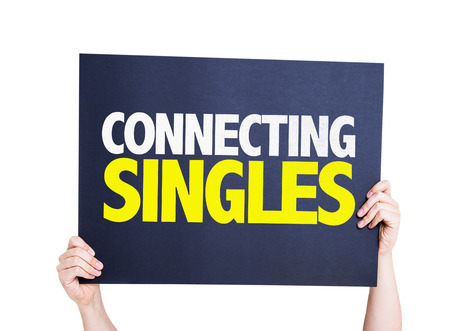 Connecting Singles card isolated on white background Stock Photo