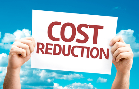 cost reduction: Cost Reduction card with sky background