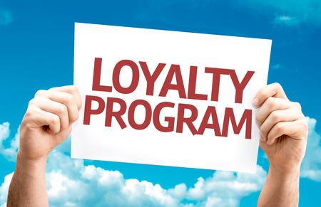 Loyalty Program kaart met hemel achtergrond Stockfoto - 53918400