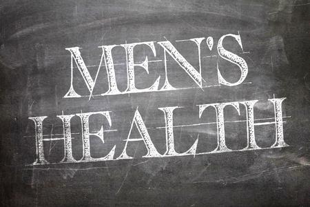 men health: Mens Health written on blackboard