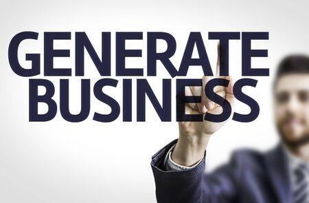 ビジネスの男性とテキスト生成事業コンセプト イメージ