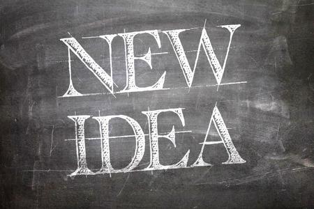 new idea: New Idea written on blackboard