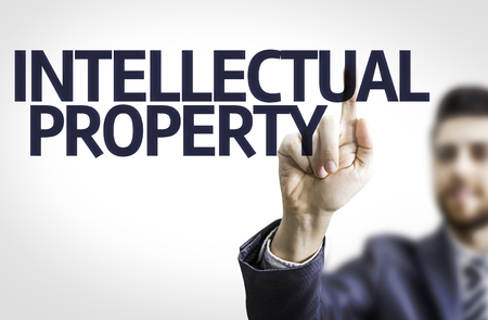 intellectual property: Businessman with the text Intellectual Property