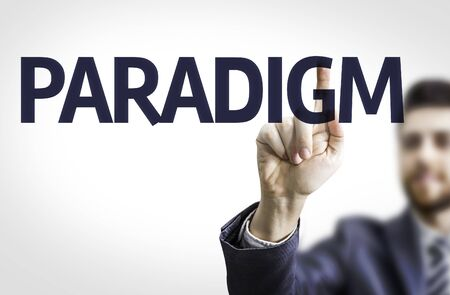 paradigm: Businessman with the text Paradigm