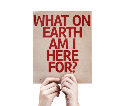 Hände halten Was auf der Erde bin ich hier? Karte isoliert auf weißem Hintergrund