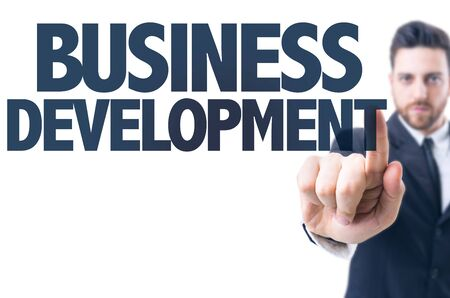 professional development: Business man pointing the text: Business Development