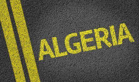 algeria: Algeria written on the road