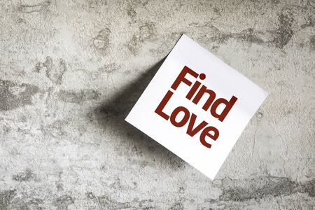 soulmate: Find Love written on paper note on texture background Stock Photo
