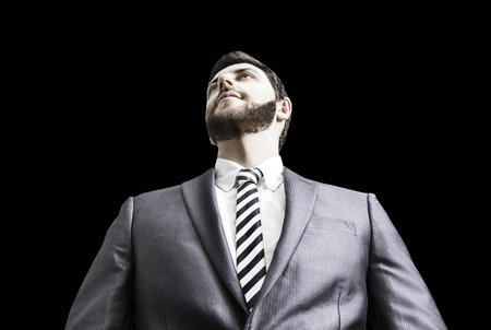 bussinessman: Business man in a concept image