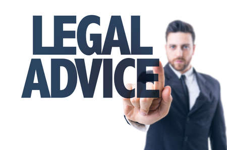 govern: Business man pointing the text: Legal Advice