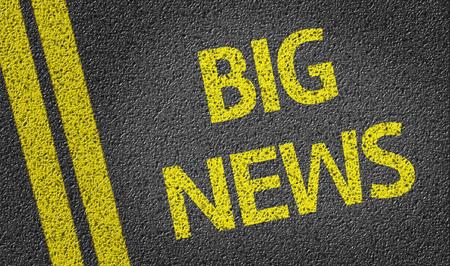 Big News written on asphalt road Stock Photo