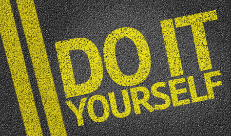 yourself: Do It Yourself written on the road