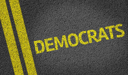 election choices: Democrats written on road