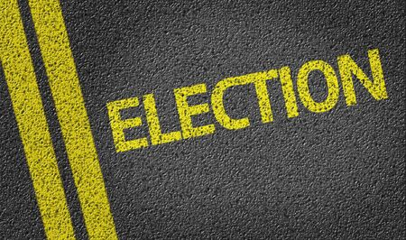 elect: Election written on the road