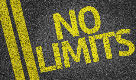 limits: No Limits written on the road