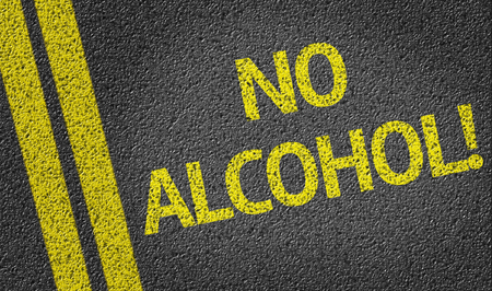no alcohol: No Alcohol! written on the road