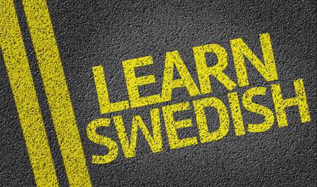 swedish: Learn Swedish written on the road
