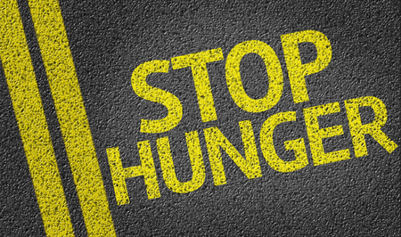 starving: Stop Hunger on tar road