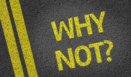 why not: Why Not on tar road