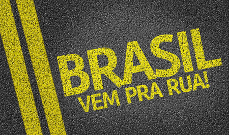 Brazil Come To The Street in Portuguese on tar road