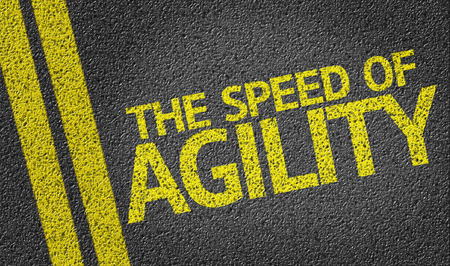The Speed of Agility on tar road 版權商用圖片