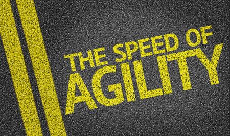 agility: The Speed of Agility on tar road Stock Photo