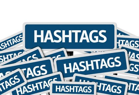 metadata: Hashtags written on multiple road signs