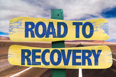 road to recovery: Road To Recovery sign with highway background