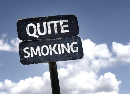 quite: Quite smoking Stock Photo