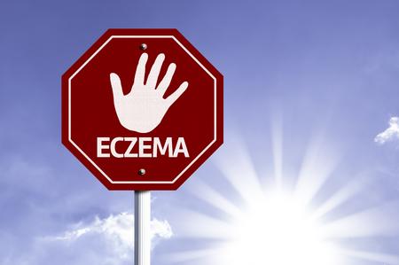eczema: Eczema written on the road sign
