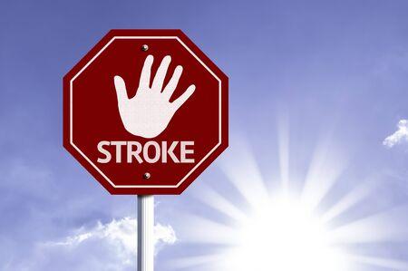 Stroke escrito en la señal de tráfico Foto de archivo