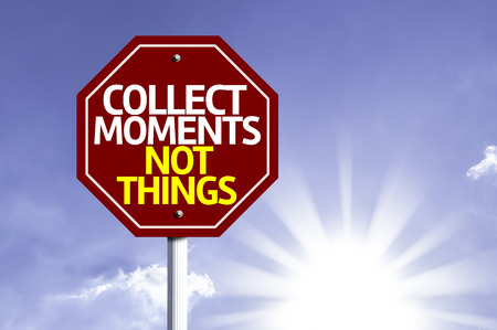 recoger: Recoger Momentos No cosas escritas en la señal de tráfico