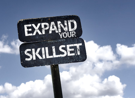 skillset: Expand Your Skillset sign with clouds and sky background