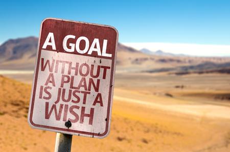 Een doel zonder een plan is gewoon een wensenbord met woestijnachtergrond