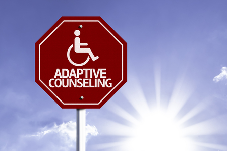 adaptive: Adaptive Counselling written on the road sign Stock Photo