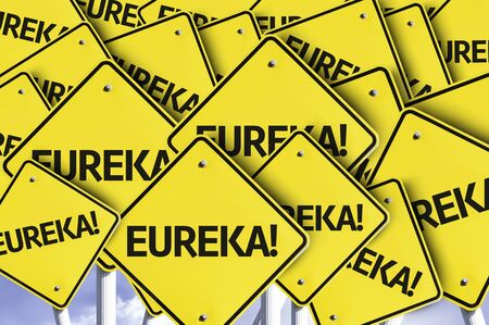 discovered: Multiple road signs with text: Eureka
