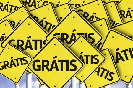 multiple: Multiple road signs with text in Dutch: Free