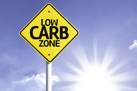 Low carb zone sign with sunny background