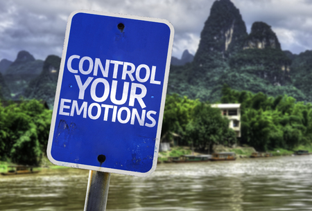 Control your emotions sign with wetland background Stok Fotoğraf